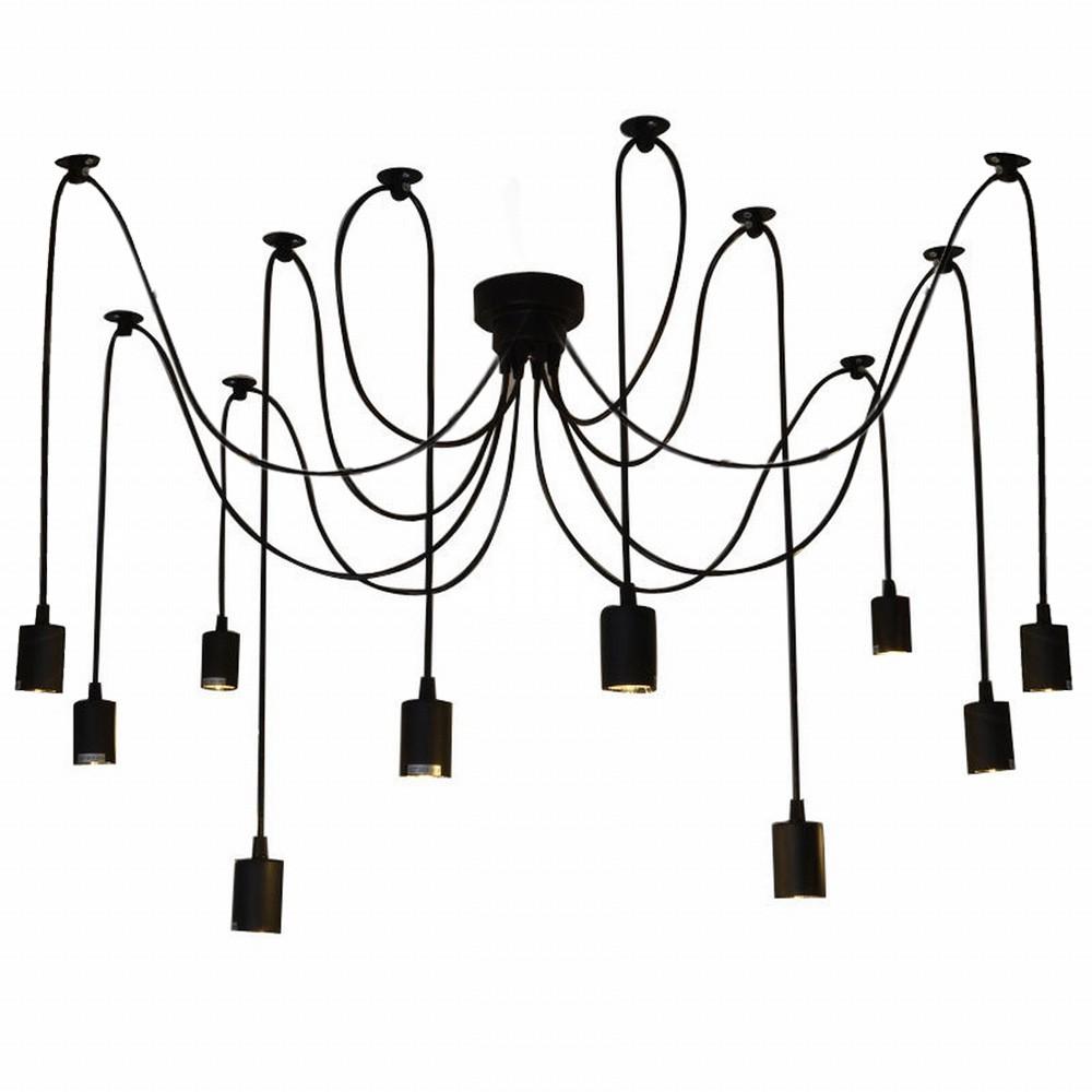 Beste LIXADA 10 Arme E27 Decken Spinnen-hängende Lampen-Licht-Antike ...