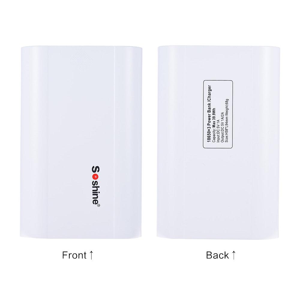 Soshine e5 portatile display intelligent lcd 3 slot 18650 - Sostegno della porta ...