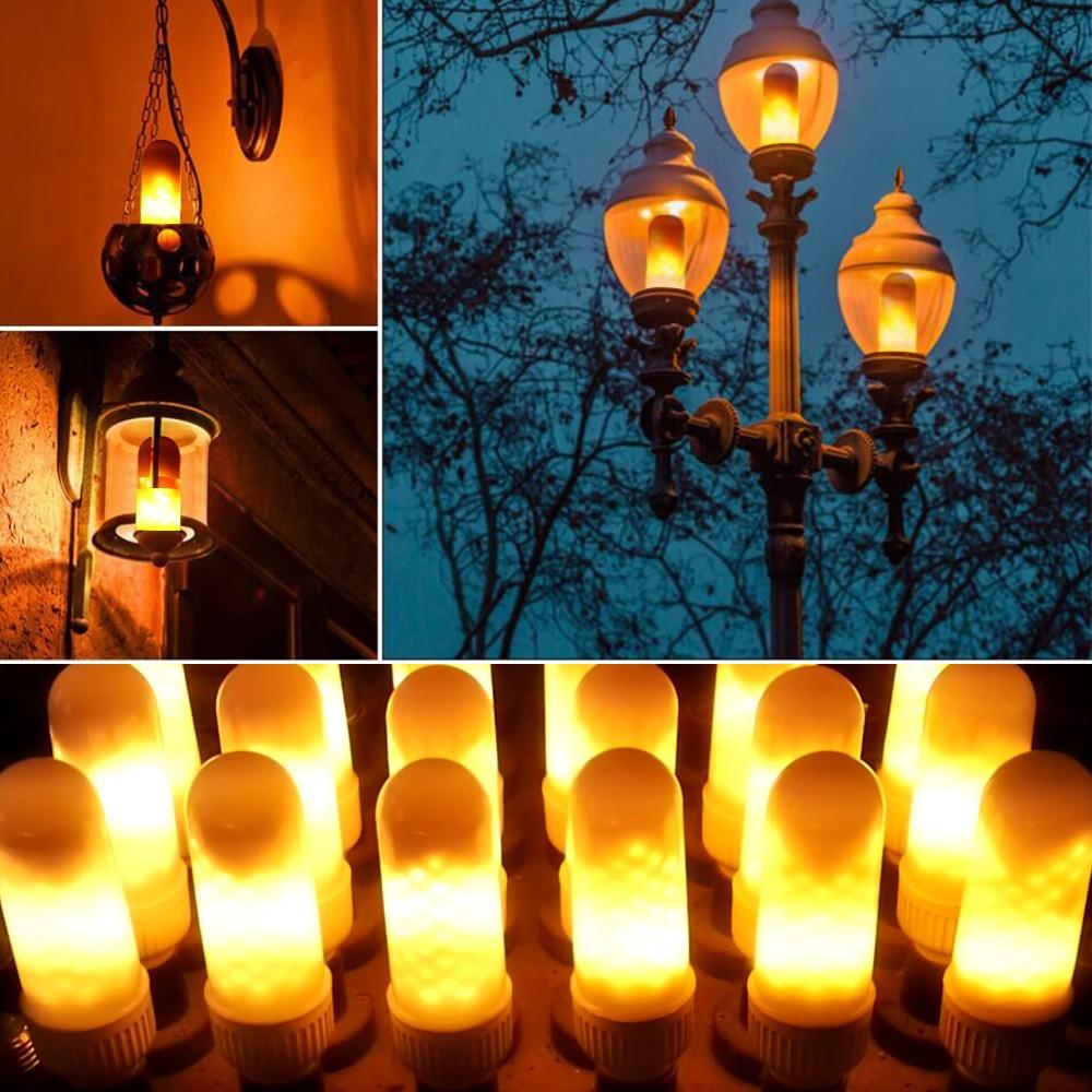 Best led fire effect light bulb e26 base always bright - Base de vela ...