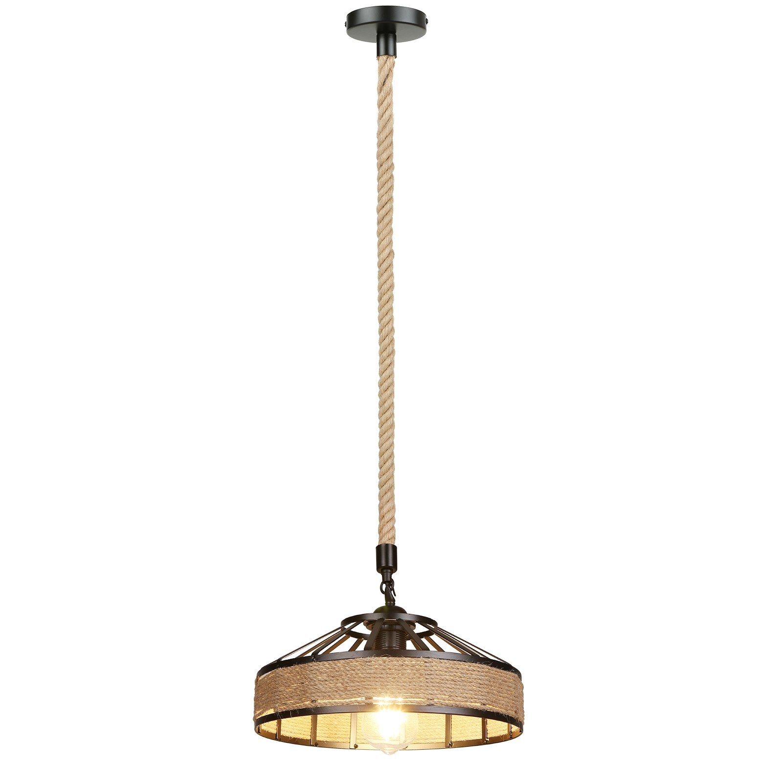 tomtop.com - 52% OFF Industrial Hemps Rope Pendants Light, Free Shipping $49.99