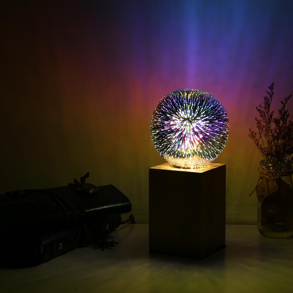 ampoule color e de feux d 39 artifice de filament de 6w e27 led 3d st64 array. Black Bedroom Furniture Sets. Home Design Ideas