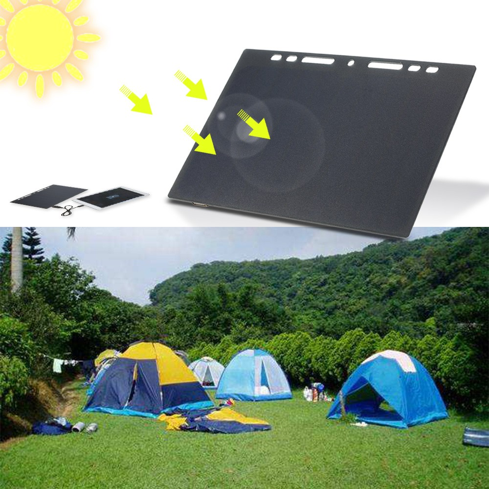 tomtop.com - 47% OFF 10W Portable Silicon Solar Panel Charger USB Port for Cell Phone, Free Shipping $15.99