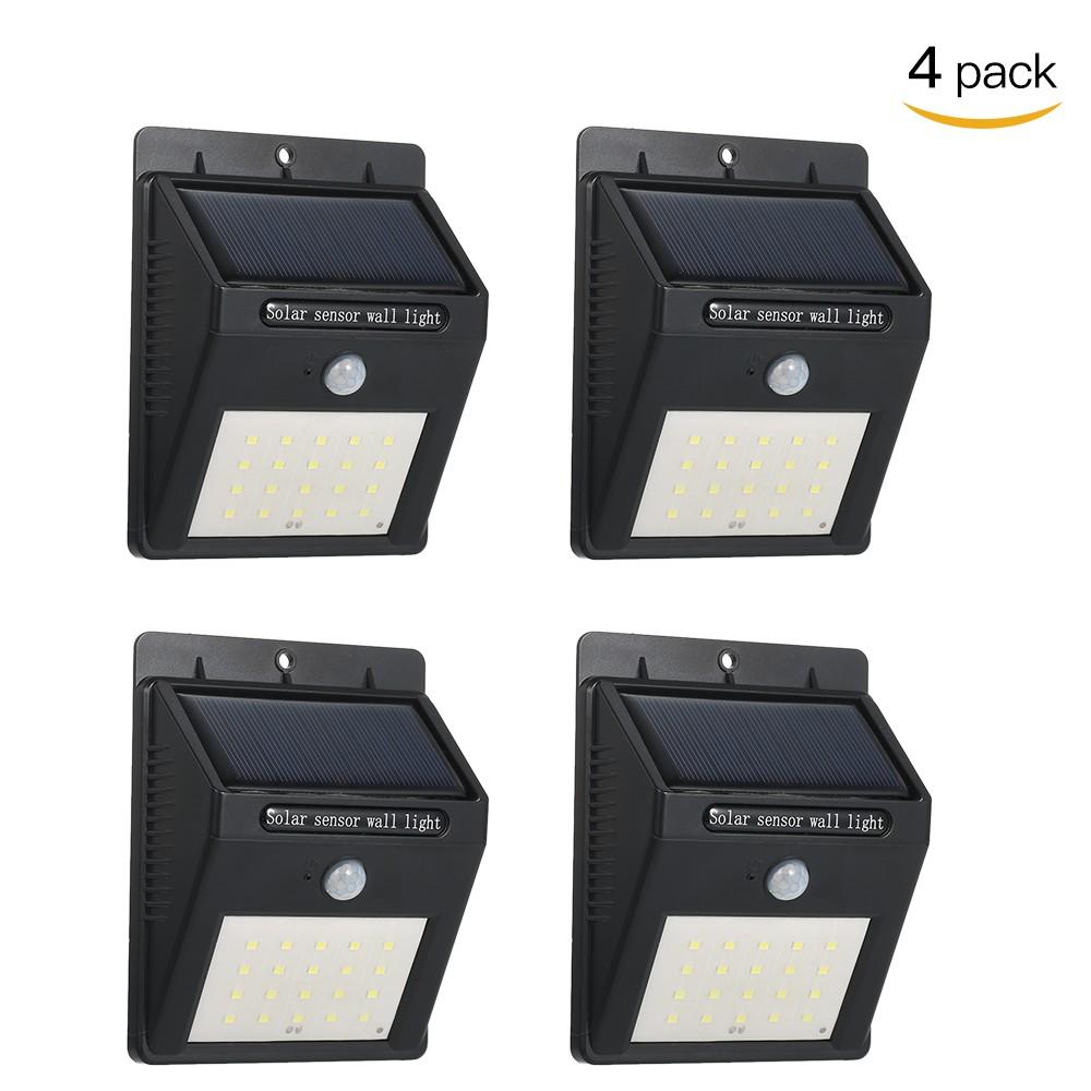 4x lampka solarna Solar Powered Wall Lamp with PIR Motion Sensor za 87zł