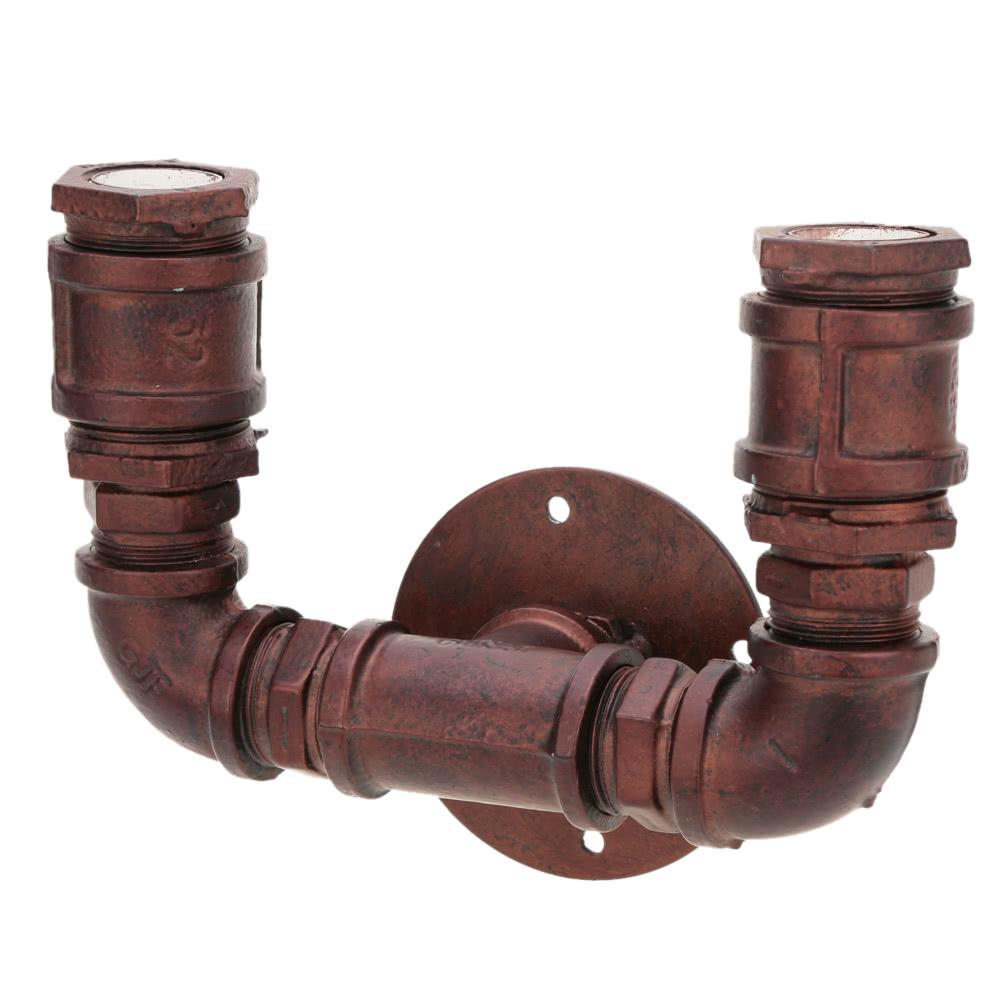 5f79fe381f Retro vinobraní osobnosti Bronzová kovová trubka ve tvaru nástěnné lampy