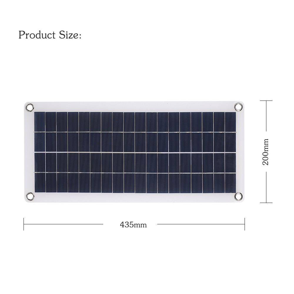 DC5V/DC18V 10W Dual Output Double USB Interface Solar Power Energy Charging Panel with Car Charger IP65 Water Resistance Portable Completed Accessories for Outdoor Camping Hiking Fishing Climbing