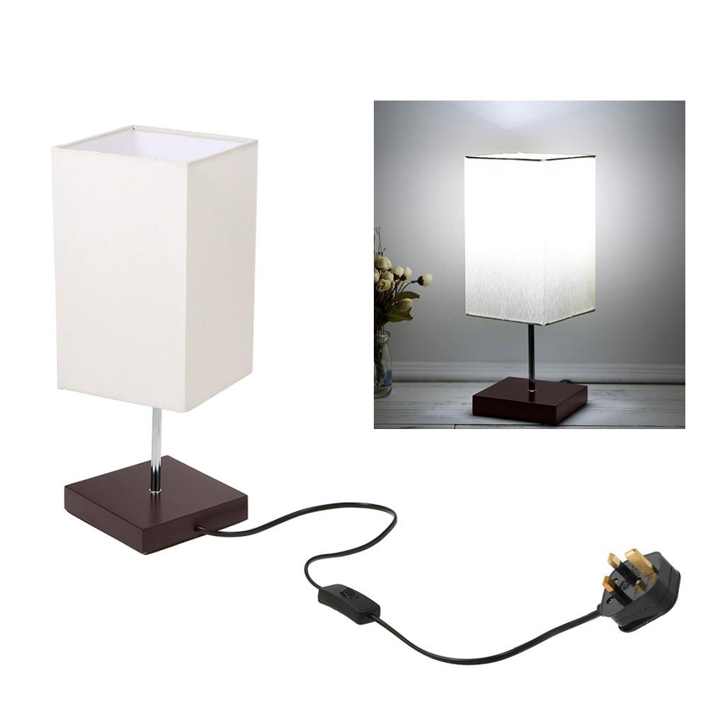 Tomshine Tetragonum Square Beside Table Lamp Sales Online Uk Tomtop Wiring