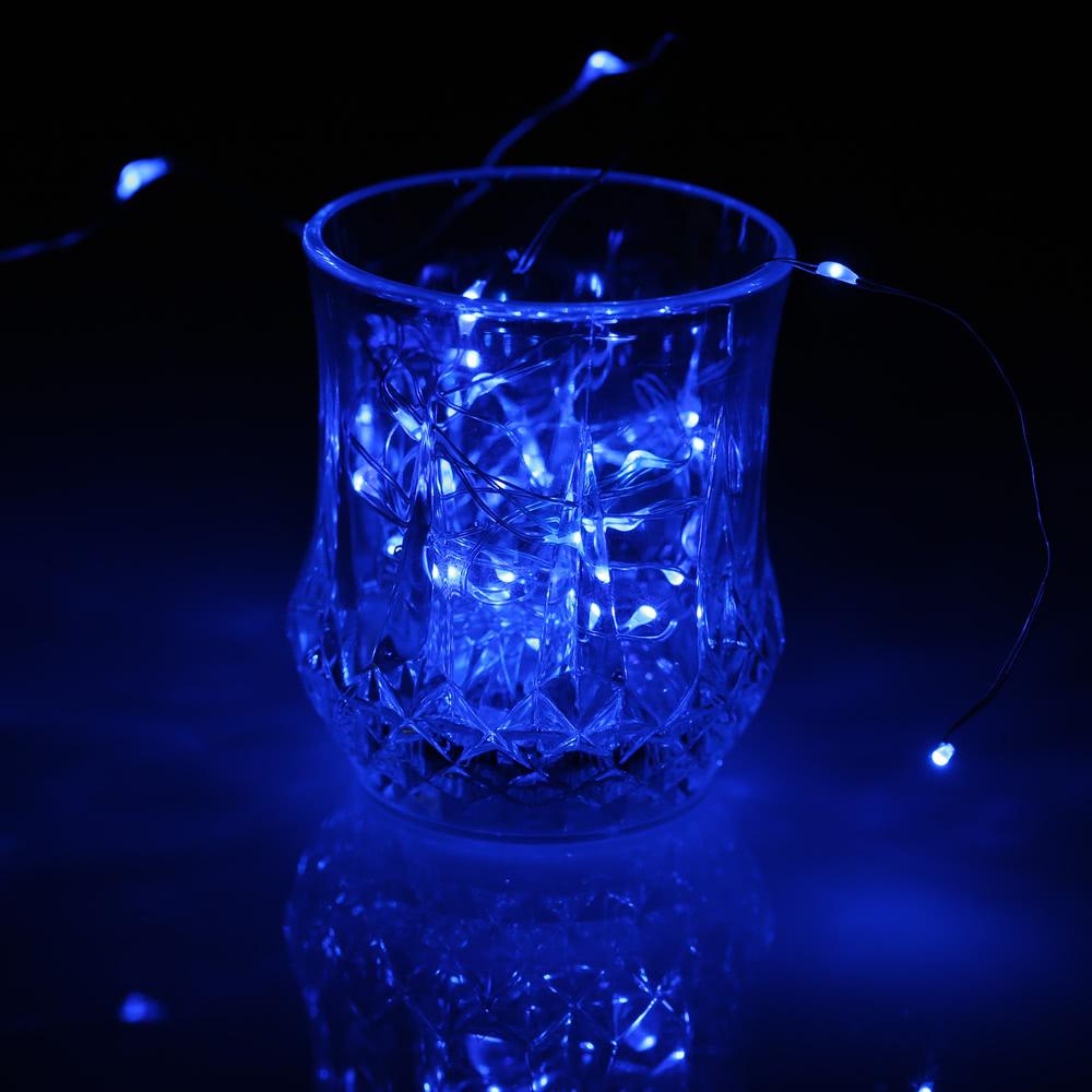 Beste 50 LEDs im Freien kupferner Schnur-Draht blau Verkauf Online ...