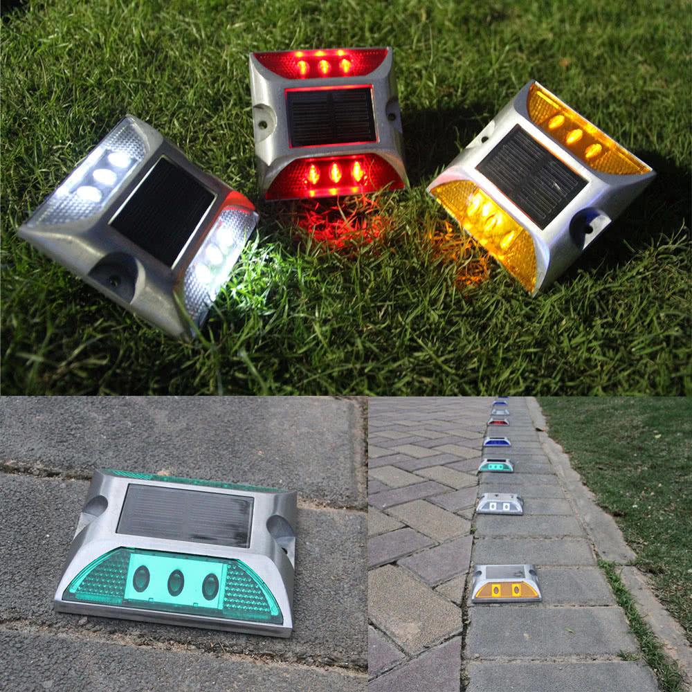Driveway Solar Lights For Sale: Best 2W 6 LED Solar Powered Driveway Lamp Blue Sale Online