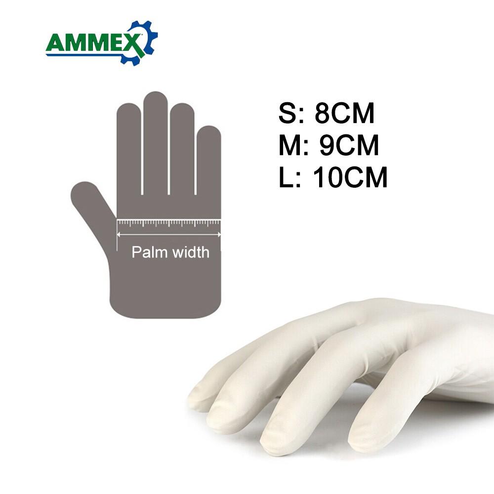 100pcs/pack AMMEX Disposable Latex Gloves Sales Online l - Tomtop