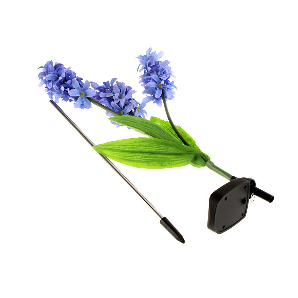 9 led powerfrugal power solaire 3 hyacinth fleurs paysage lampe violet. Black Bedroom Furniture Sets. Home Design Ideas