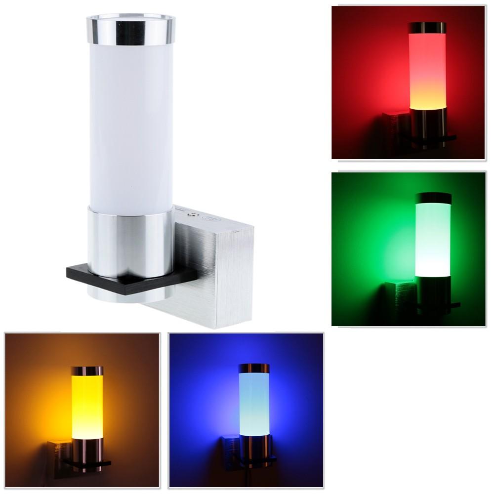 1w 85 265v ac modern simple minimalist aluminum led wall for Minimalist bedroom lighting
