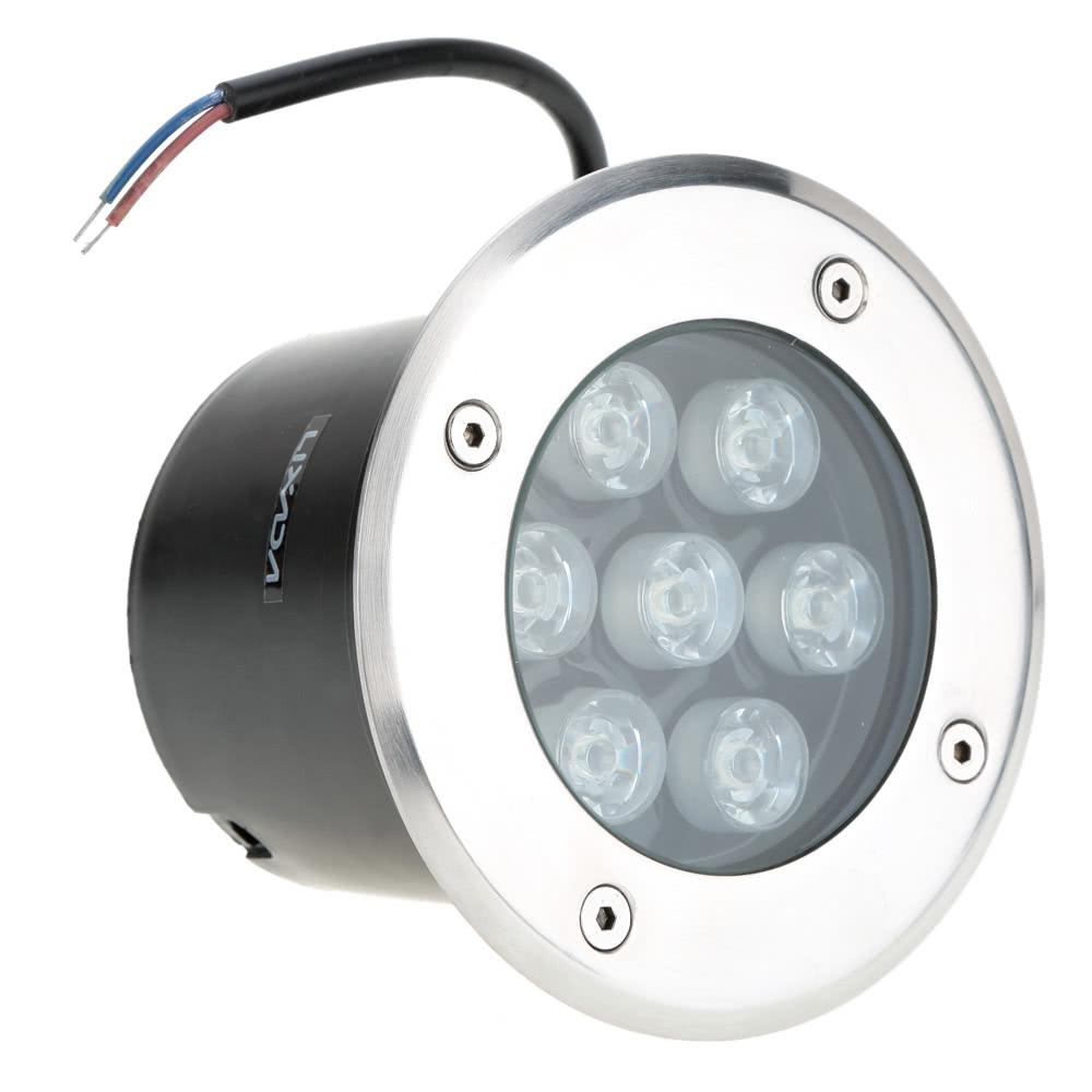 Beste Lixada 7W 12V DC IP67 LED Unterflur Licht warmweiß Verkauf ...