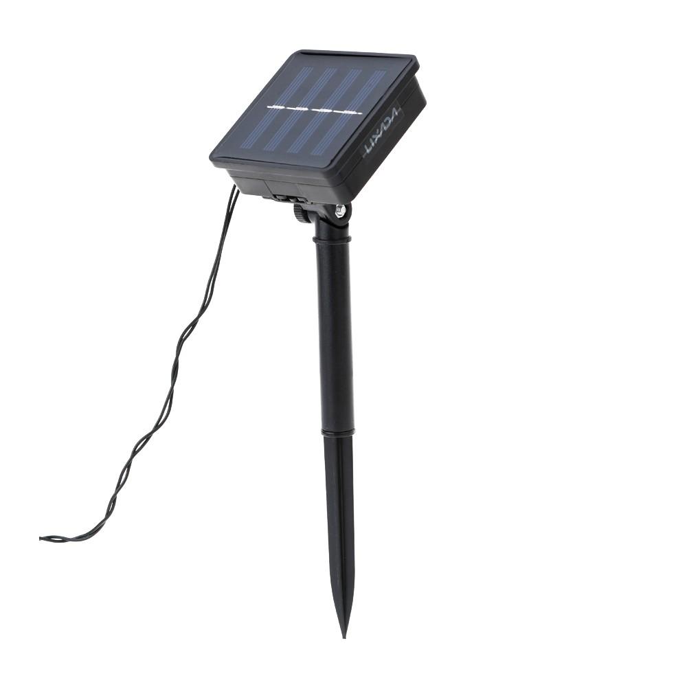 Jardin ext rieur solaire aliment 4 7 m 20 led multi for Commande eclairage exterieur