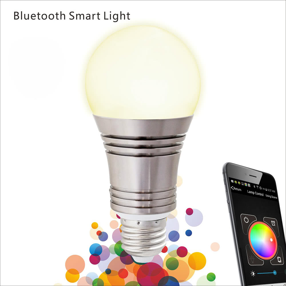Lixada 7 5w Superlight Bluetooth Led E27 Rgb Smart Color