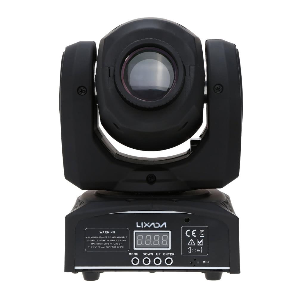 Beste Lixada DMX-512 Mini Moving Head Licht 8 Farbänderungen LED au ...