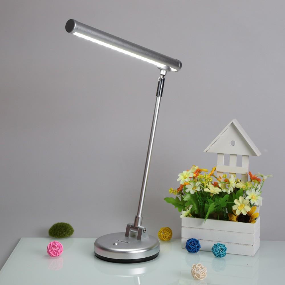 lixada rotatif pliable flexible 6w led lumi re lampe de bureau avec luminosit r glable fiche us. Black Bedroom Furniture Sets. Home Design Ideas