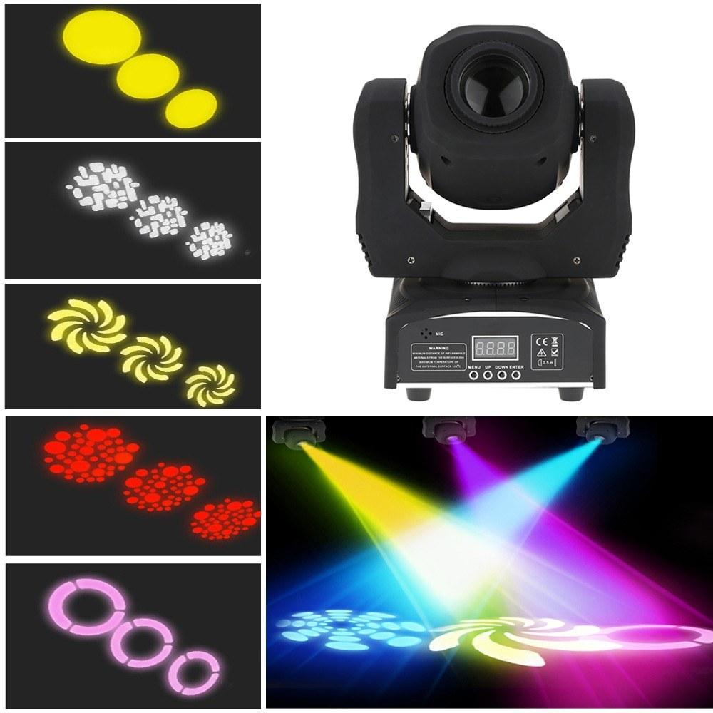 60W LED 8 Gobos 8 Colors Stage Effect Light(JP Plug)