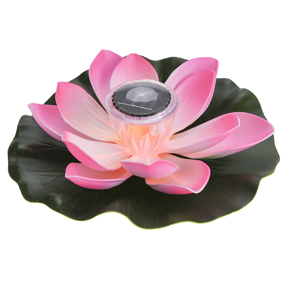 01w Solar Powered Multi Colored Led Lotus Flower Lamp Rgb Water