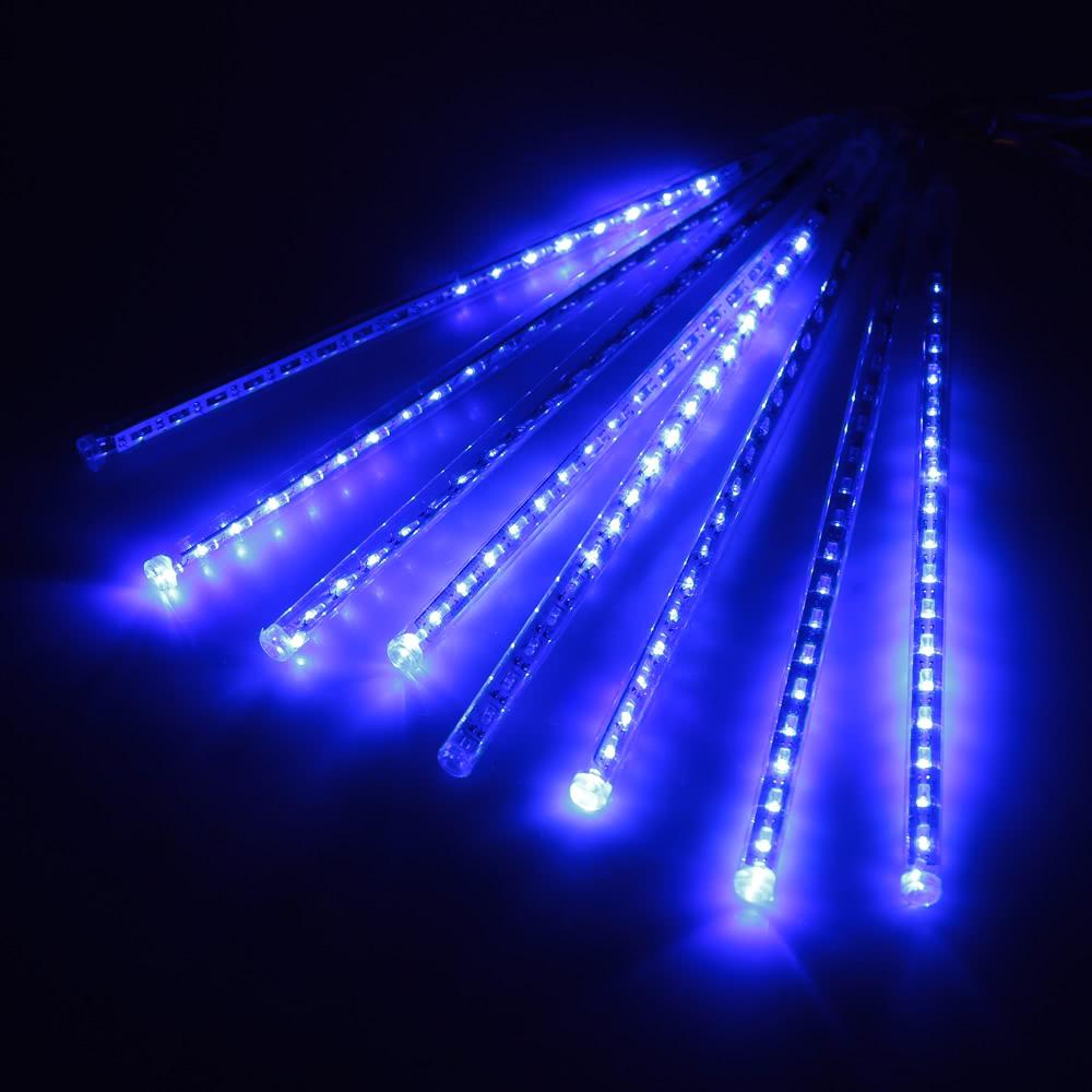Best Meteor Shower Rain Led Light String Blue Us Blue Us