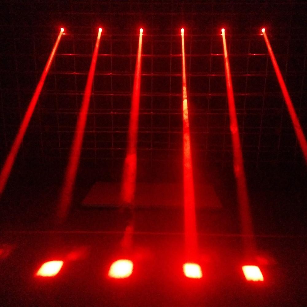 Lixada 50W LED Rotating Moving Head RGBW Beam Stage Effect Lamp