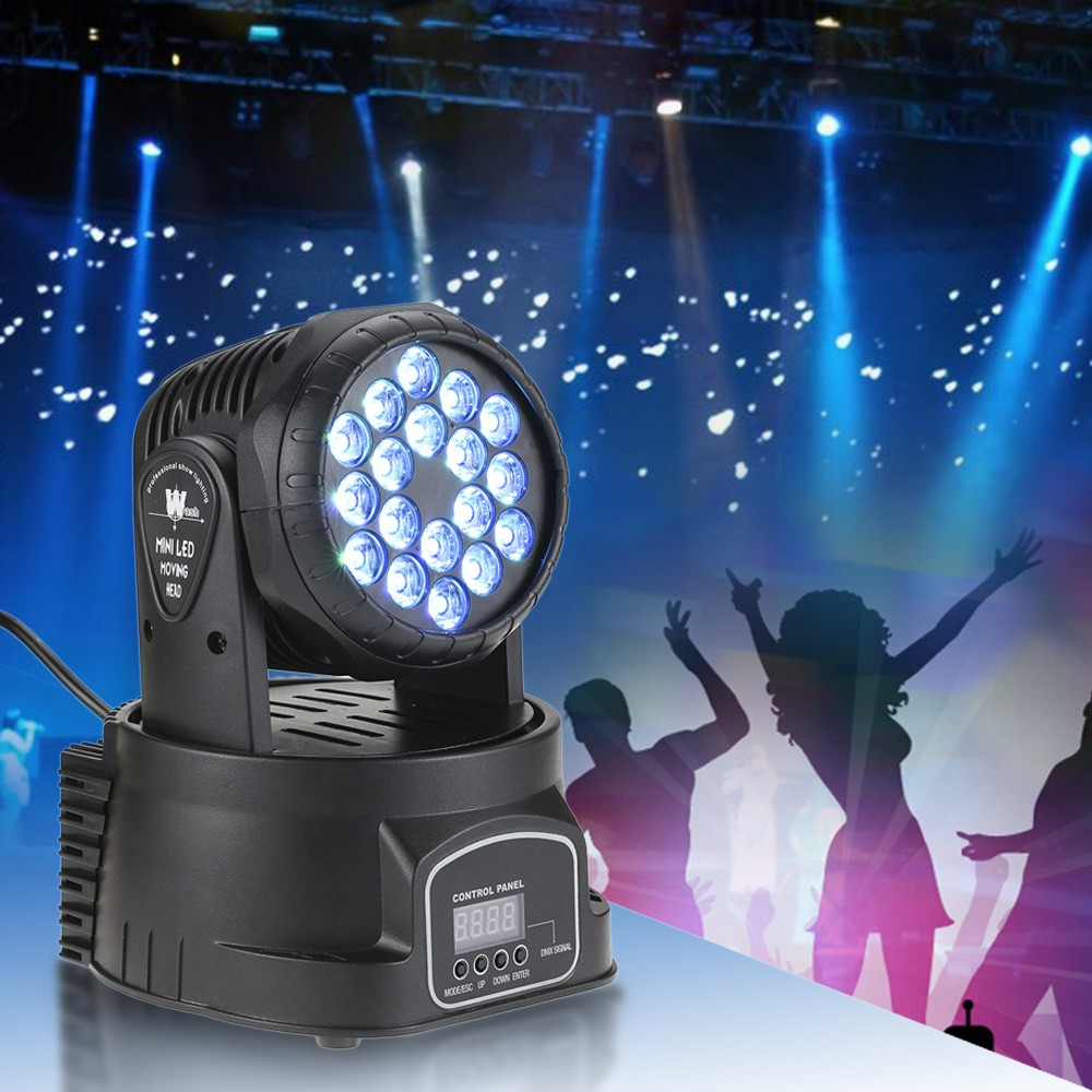 18 X 3W RGB LED 3 9 Channel Wash Effect Mini Moving Head Light Sales Online Eu