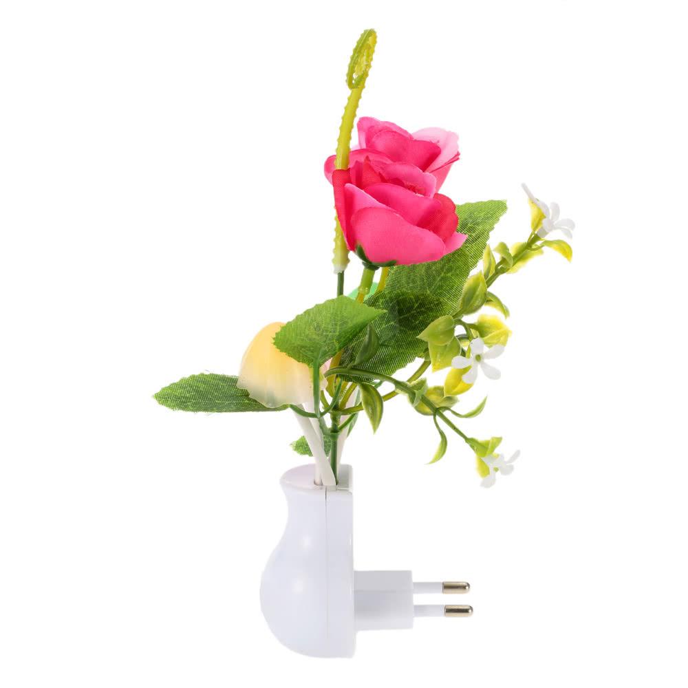 lumi re de capteur de changement de couleur de plante de fleur de led neuf eu n 3. Black Bedroom Furniture Sets. Home Design Ideas