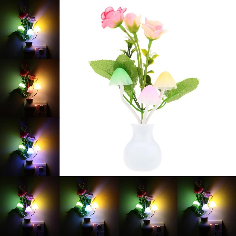 led blumen pflanzen farbwechsel sensor licht 4 eu. Black Bedroom Furniture Sets. Home Design Ideas