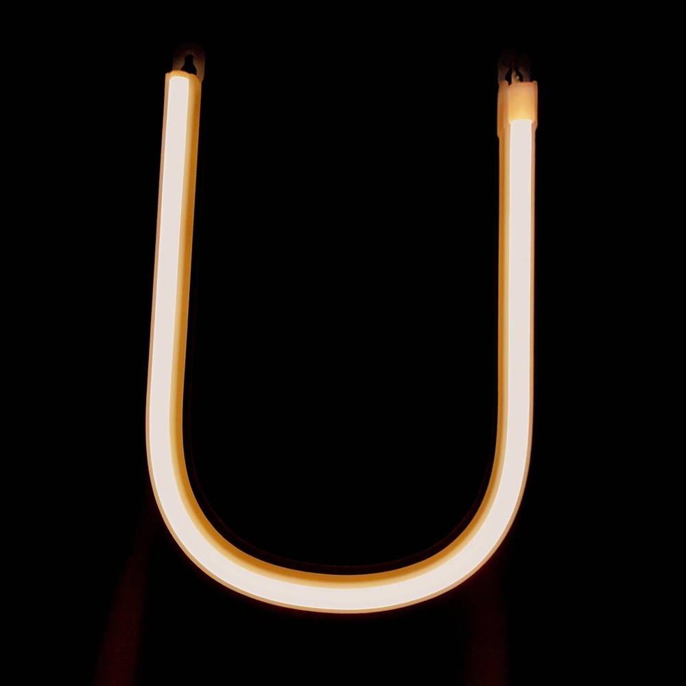 led letter lamp battery operated powered u shape warm white for home party decoration cafe shop
