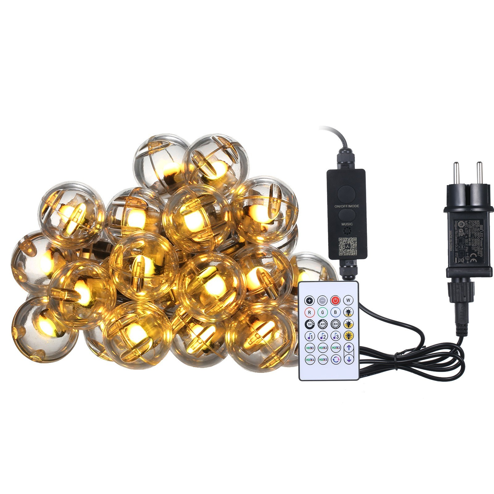 Tomtop - 54% OFF 5m Leds Lamp String Intelligent Dimmable Waterproof RGB-Color Lighting, $24.99 (Inclusive of VAT)