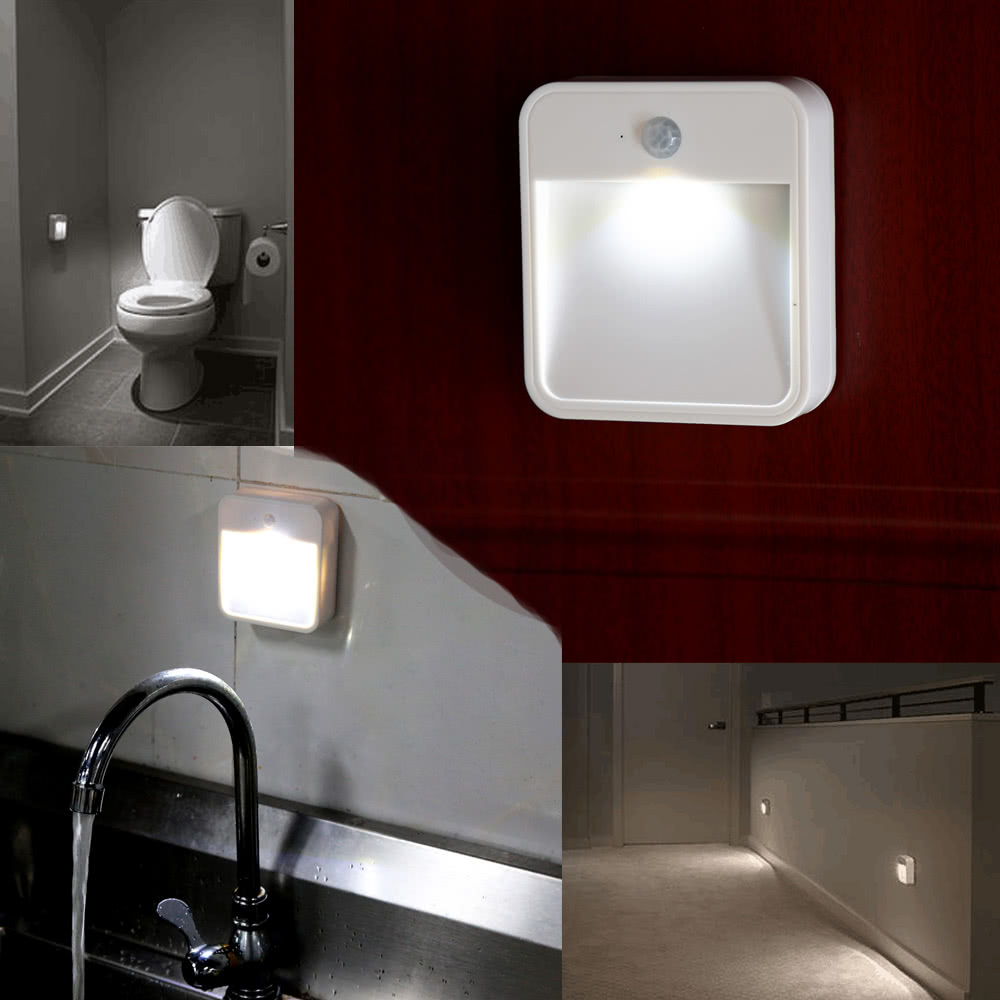 bathroom night lights battery powered motion sensor led light portable wide 11186