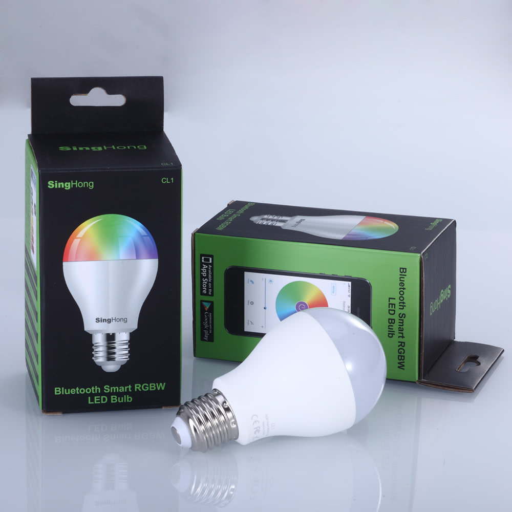 Exceptional SingHong 7.5W 600LM E26/E27 Smart LED Bluetooth Bulb Light Lamp Brightness  Adjustable