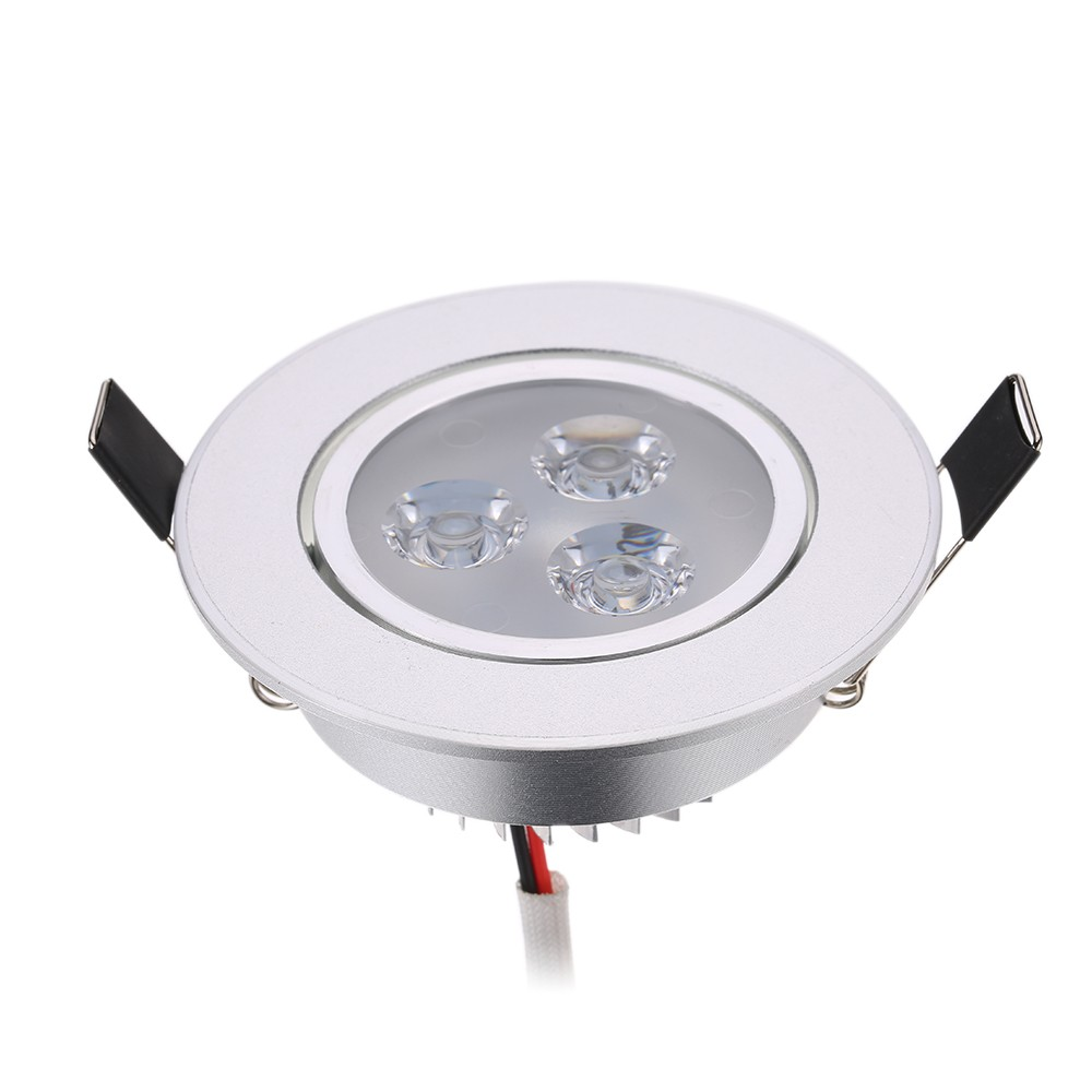 Led Light Enclosed Fixture: Best Silver LED Ceiling Recessed Down Light Fixture Lamp