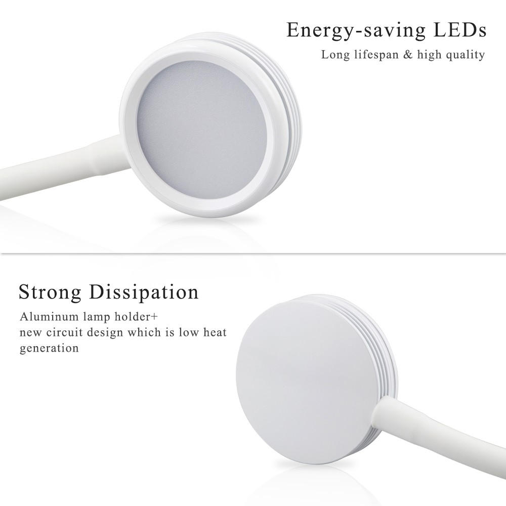 3w Led Eye Protection Clamp Clip Light Table Desk Lamp Ultra Bright Usb Reading Circuit Bendable Powered Flexible For Working Studying
