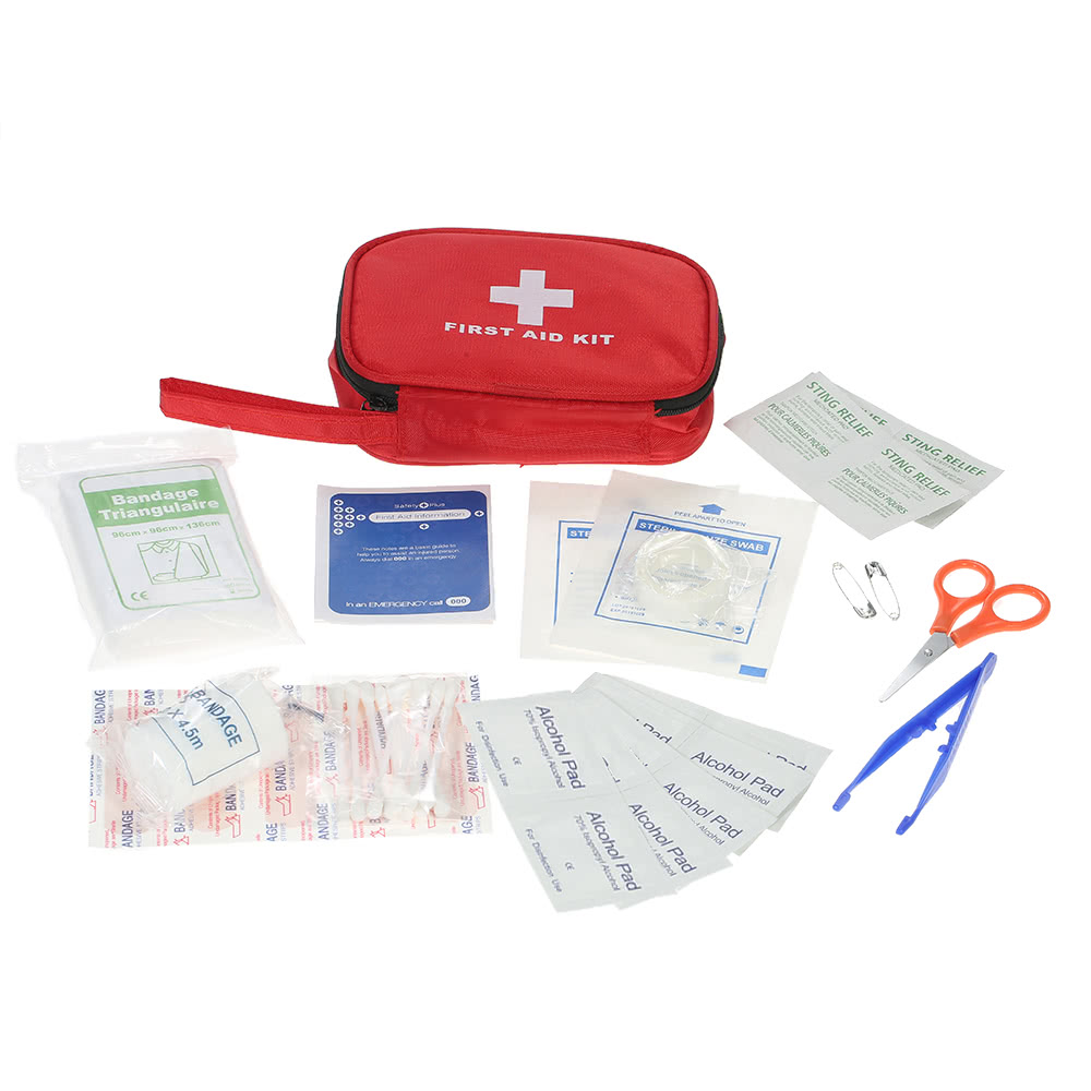 Carevas 40pcs portable water proof first aid kit contains medical carevas 40pcs portable water proof first aid kit contains medical first aid supplies sales online red tomtop publicscrutiny Image collections