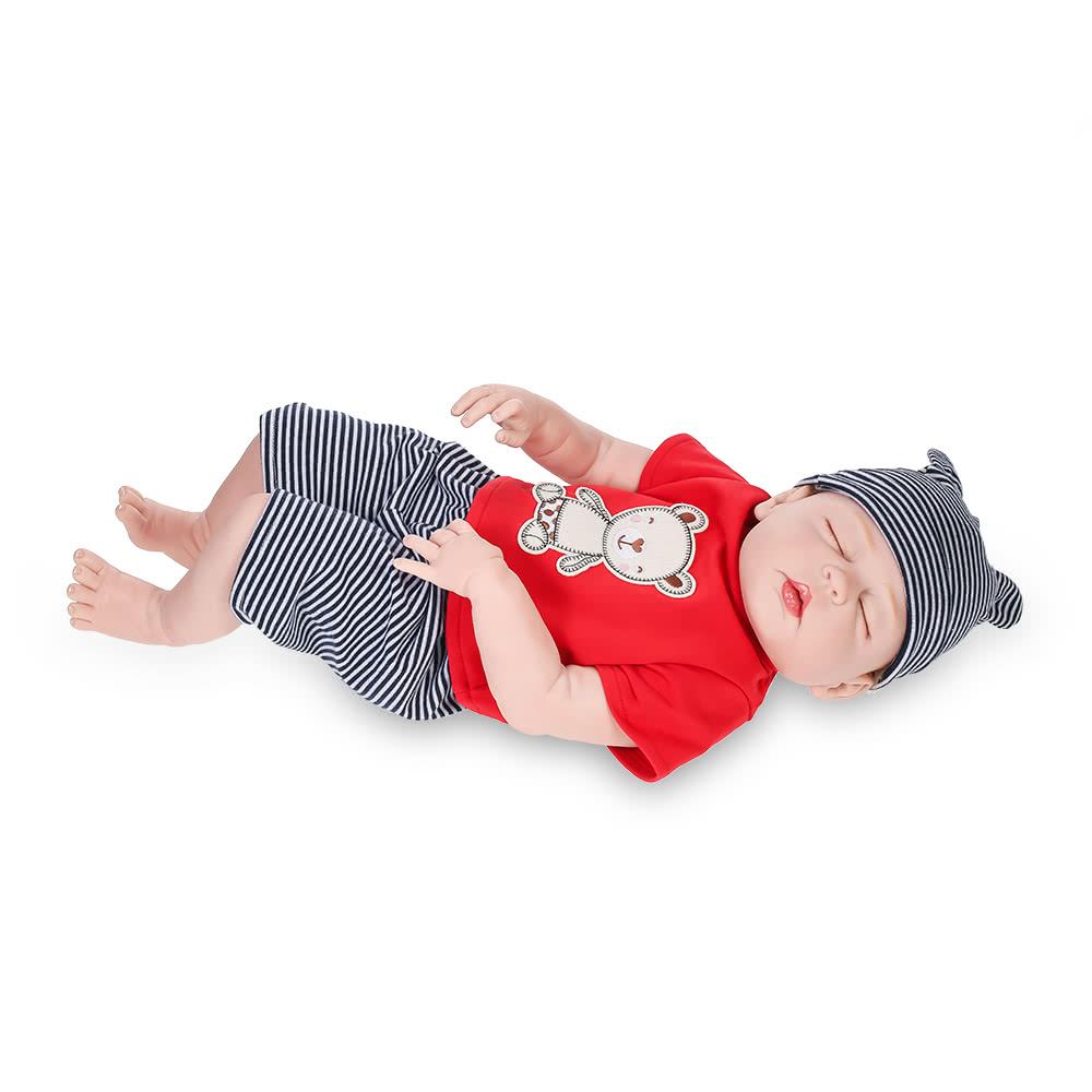 Full Silicone Reborn Baby Doll Eyes Closed Sleeping Dolls With