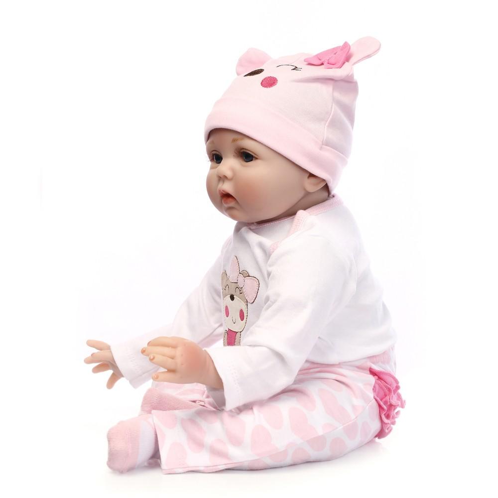 22inch 55cm Reborn Toddler Baby Doll Girl Silicone Body ...