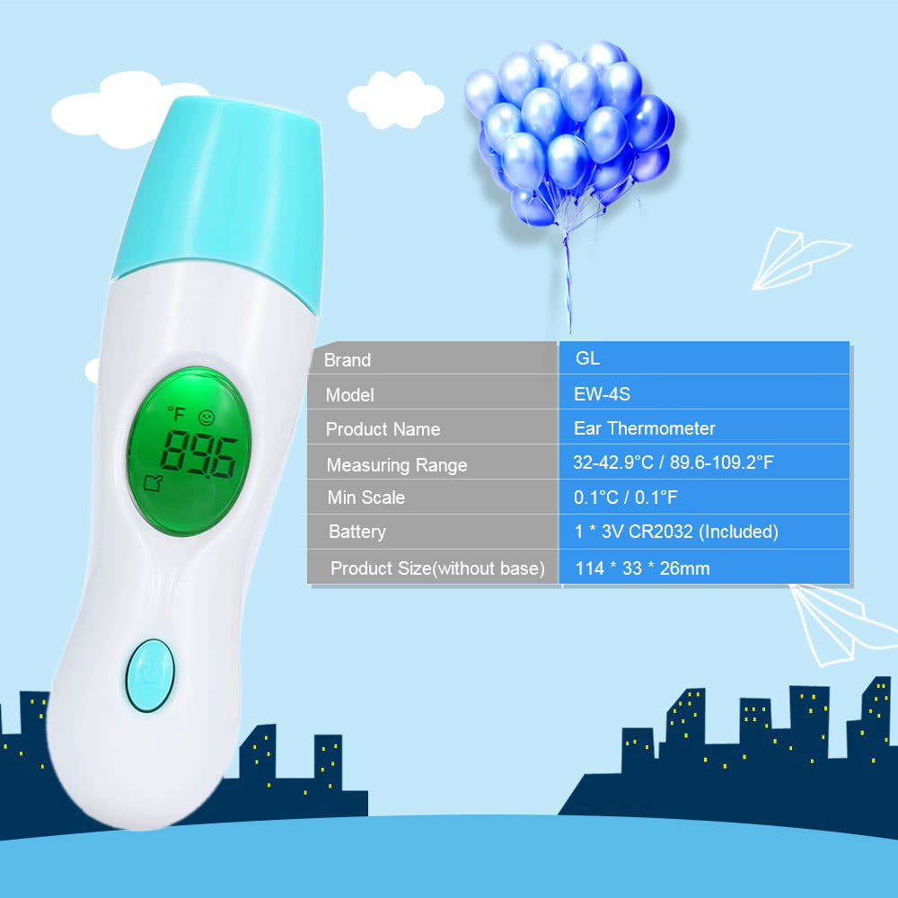 GL Infant LCD Quick Read Digital Baby Ear Thermometer
