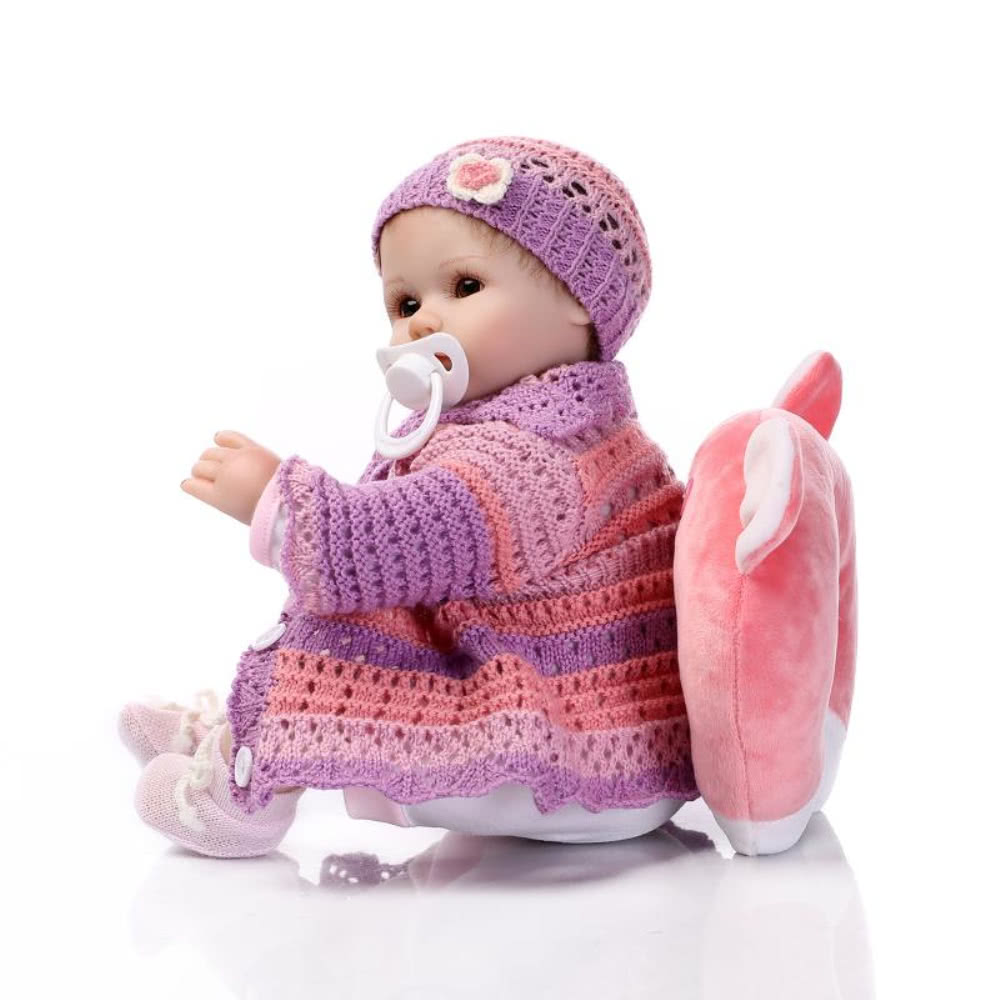 Newborn Baby Girl Toys : Reborn baby doll girl silicone eyes open with