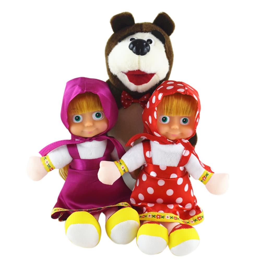$1 OFF 22CM Popular Masha Plush Dolls,free shipping $3.99