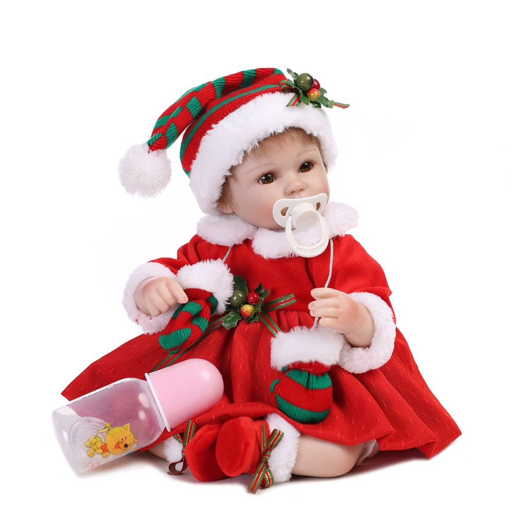 16inch 41cm Silicone Reborn Baby Doll Christmas Baby Doll