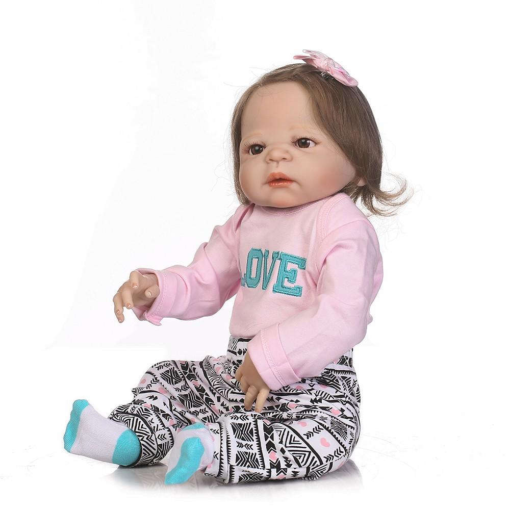 22in reborn toddler mignonne petite fille poup e enfants cadeau babygirl ami avec bouteille d. Black Bedroom Furniture Sets. Home Design Ideas