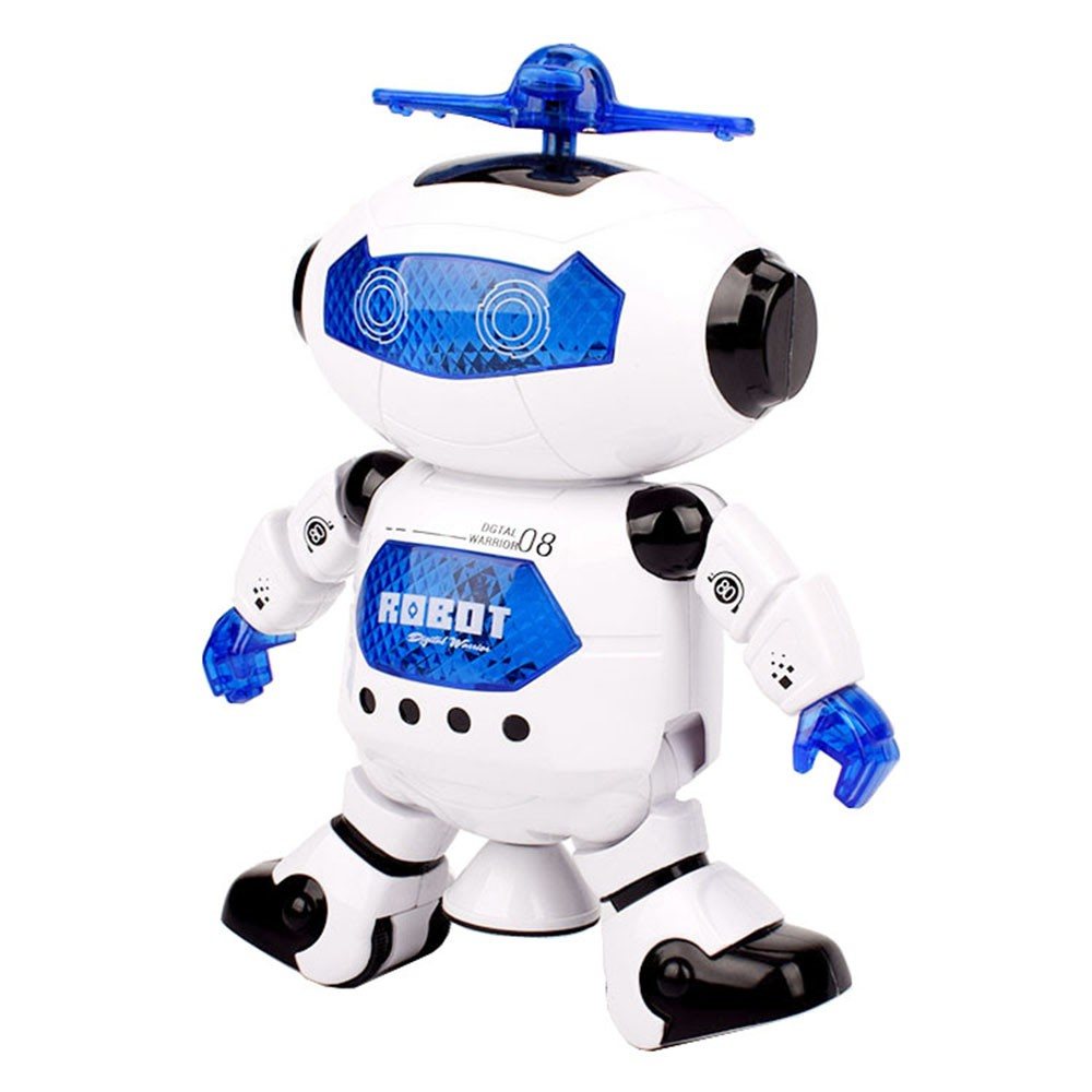 $1.56 OFF Electronic Music Dazzling Light Dancing Rotating Robot,free shipping $10.43