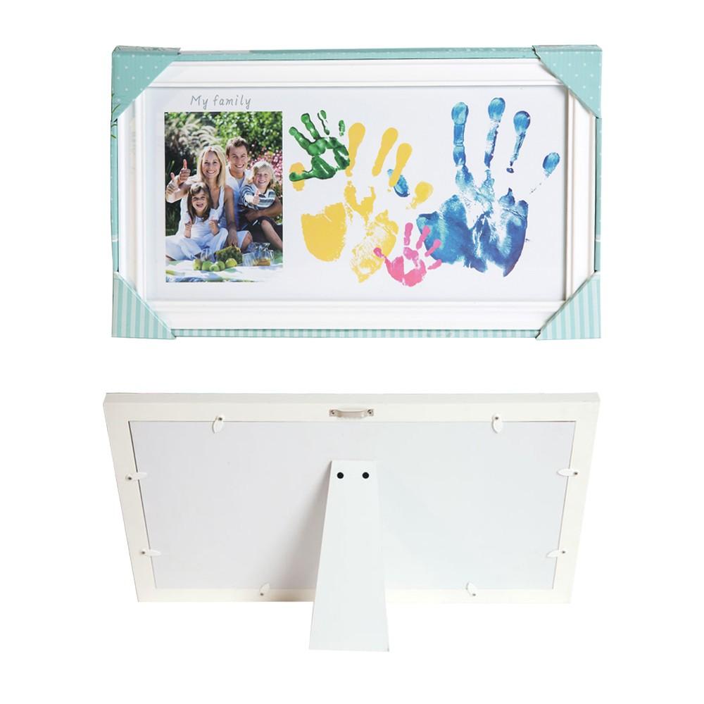 DIY Familie Handabdruck Foto Keepsake Frame Kit Holz Bilderrahmen ...