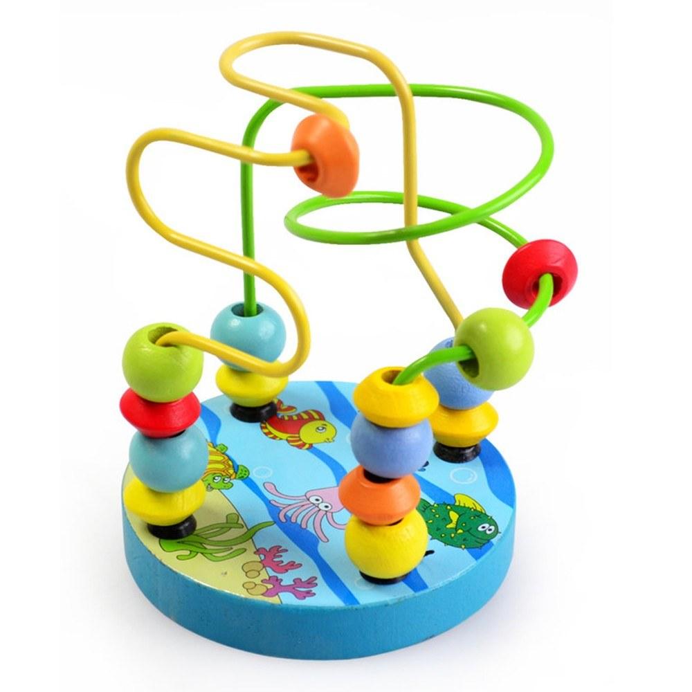 holz bead maze roller coaster spiel klassische. Black Bedroom Furniture Sets. Home Design Ideas