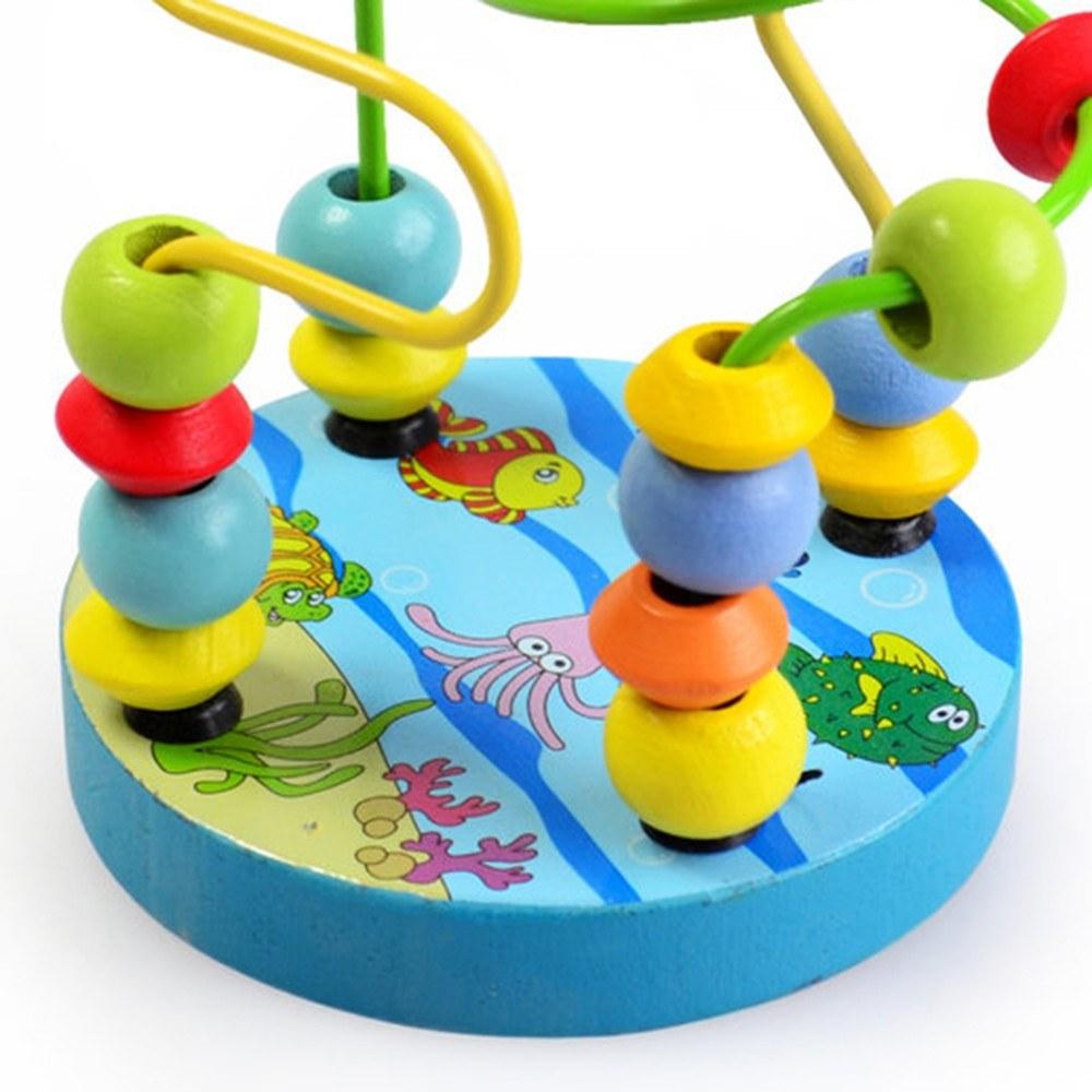 holz bead maze roller coaster spiel klassische lernspielzeug f r 3 j hrige m dchen boy red blau. Black Bedroom Furniture Sets. Home Design Ideas