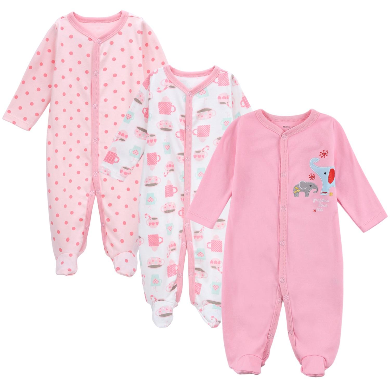 3pcs mamelucos del bebé mamelucos conjunto 100% algodón Mono ...