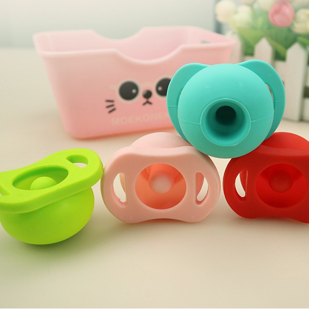 Funny Eco-friendly Silicone Pacifier Retractable Safe Baby Toddler Teeth Soother Toy