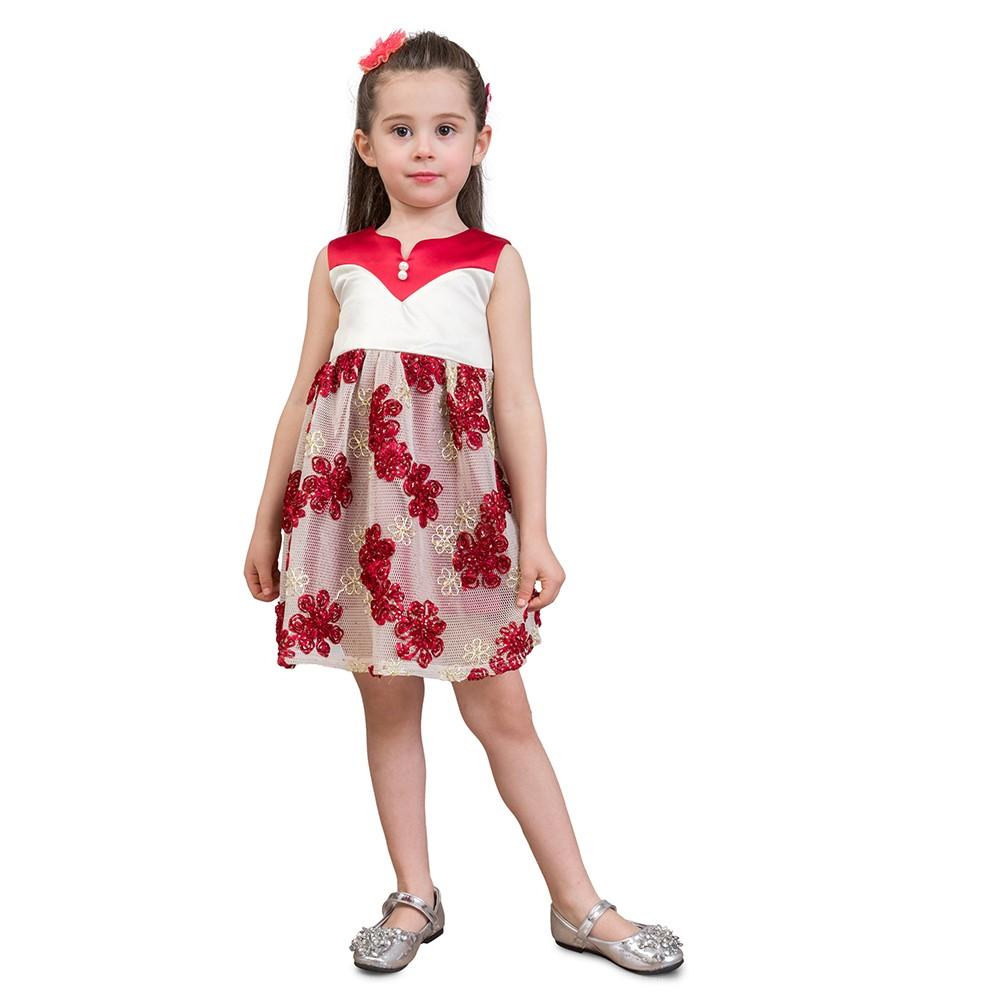 Mädchen Kleid Elegant Floral Pricess Kleid Kinder Formale Party ...