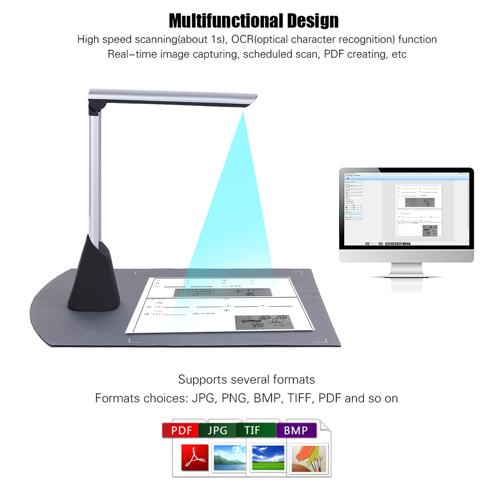 Definition Modular Classroom ~ Portable high speed usb book image document camera scanner
