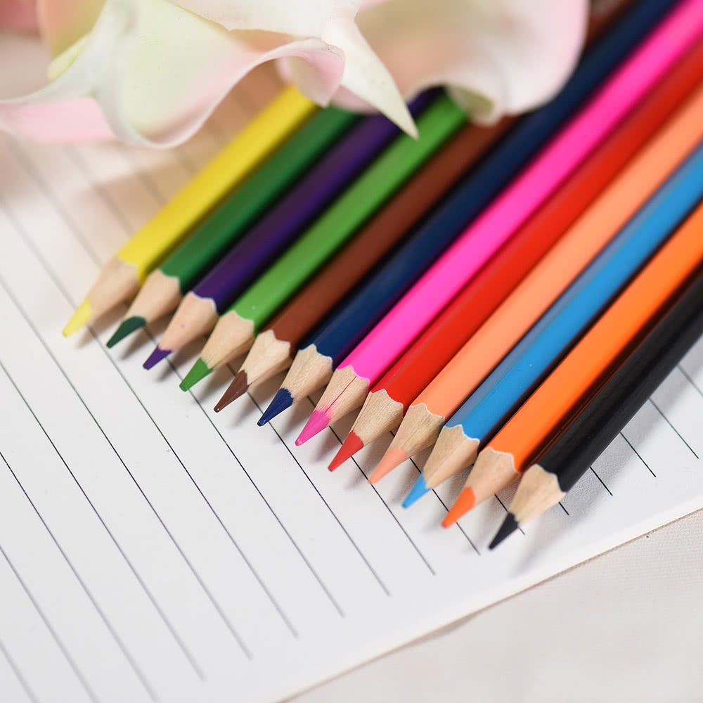 12 Colors Non-toxic Drawing Wood Coloring Colored Pencils Set Painting Stationery for Students Artist   Adults